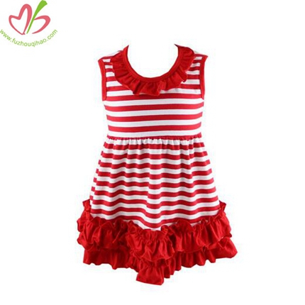 Cotton Stripe Girls Tank Dress