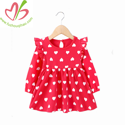 Fashion Cute Small Heart Girl Dress, Long Skirt for Girl
