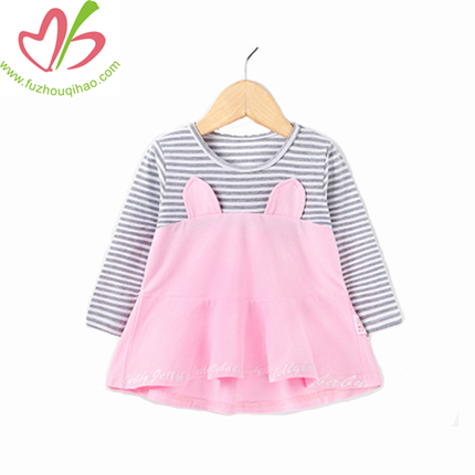 Comfortable Cute Winter Girl Dress, Interlock Knit Girl Dress