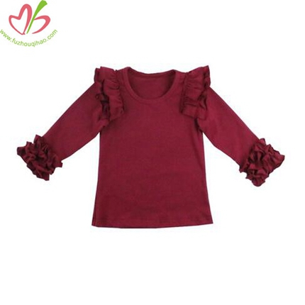 Ruffled Girl's Blouse Top