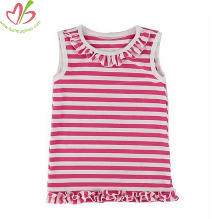 Best Selling Kids Clothing Ruffle Shirt High Quality