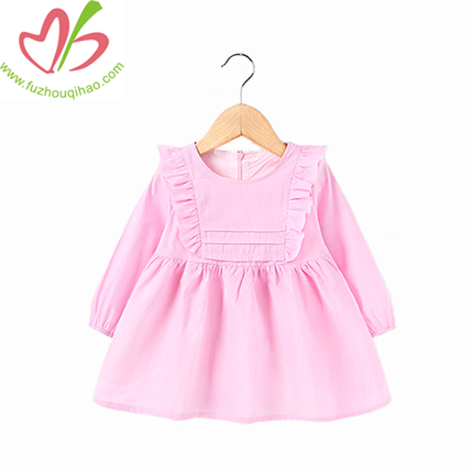 Wholesale Fall Kids Girl Toddler, Long Sleeve Dress, Cotton Knit Lovely Baby Girl Dresses