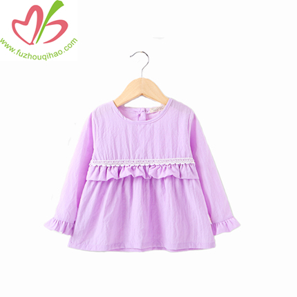 Wholesale Handmade Pettigirl Autumn Red Girl Boutique Dress Cotton Flower Girls Dress