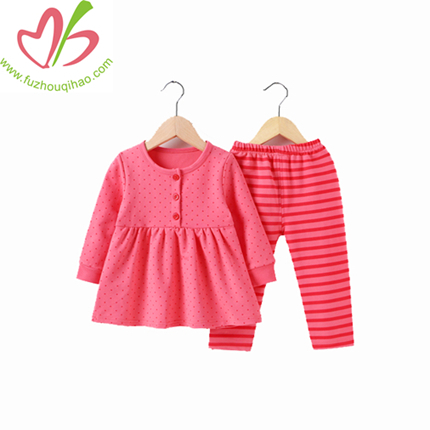 Cotton Girl Dress Top and Pant Set, Girl Clothes Set, Winter Clothes Sets