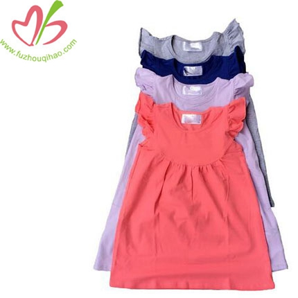 Baby Girl High Quality Soft Cotton Dresses &Ruffle Cuff