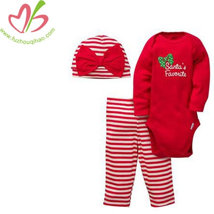 Baby Girls 3 Piece Set - Bodysuit, Cap and Pant