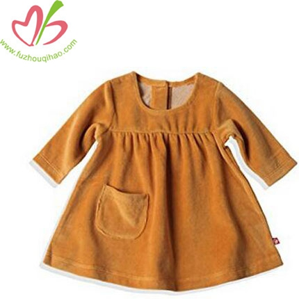 Baby Girls' Velour Little Pocket Dress
