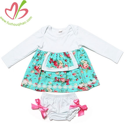 Best Selling Cheap Spring Baby Girls Boutique Clothing Sets