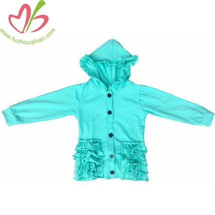 Child Coats Fall Warm Ruffle Hoodie
