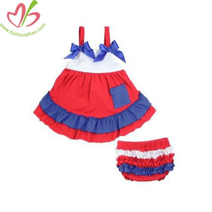 Baby Girls's Boutique Clothing with 2 pcs Ruffle Bloomers Set