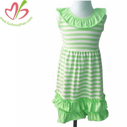 Girls Cotton Stripe Sleeveless Dresses