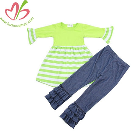 Wholesale Sweet 2 Piece Suit For Girls Ruffle Pants Outfit