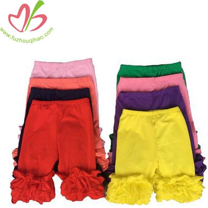 Girls 100%Cotton Colorful Ruffle Short
