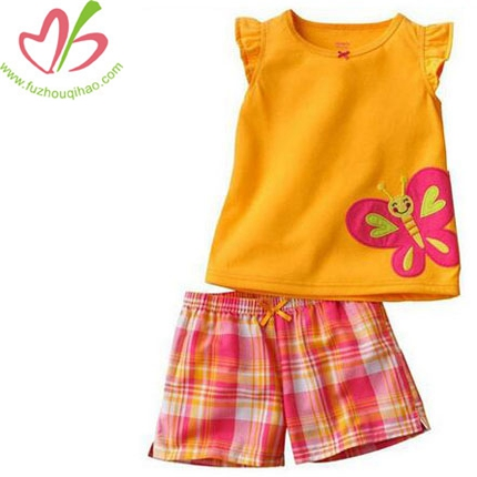 Two Pieces Lovely Girls Cotton Set