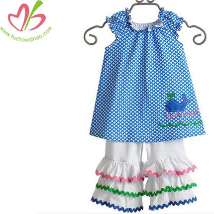 100% Cotton Blue Dolphin Kids Clothes