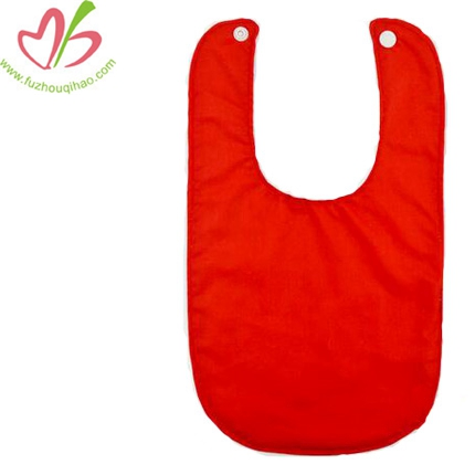 Baby 100% Cotton Red Bibs