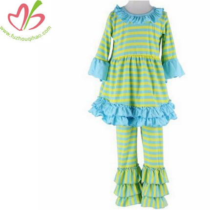 Girls Clothes Tops & Striped Pants Sets