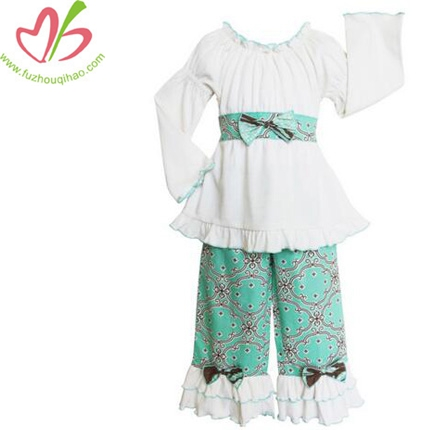 Latest Designs Cotton Girls Ruffle Dresses