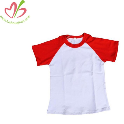 Girls Short Sleeve Ruffle Raglan Shirt