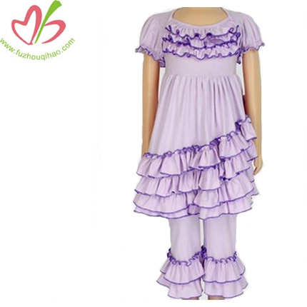 Girls Ruffle 2pcs Outfit Top And Pant