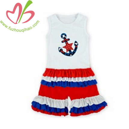 Girl's Sets with Anchor Applique