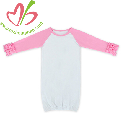 Comfortable Cotton Baby Icing Ruffle Gown