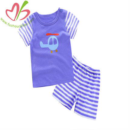 Lavender Stripe Short Set for Baby