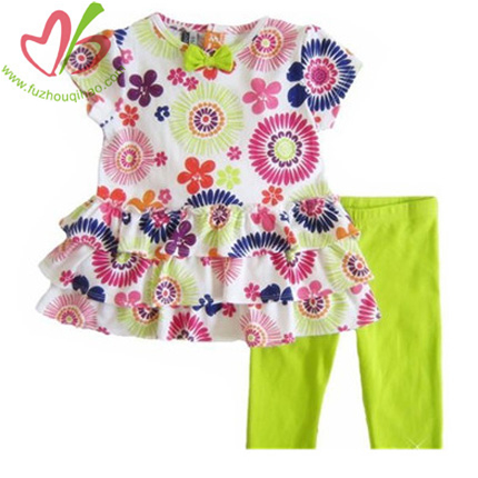 Floral Baby Girl's Clothing Set