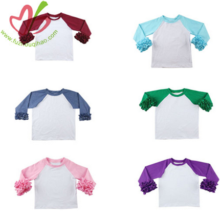 Raglan Sleeves Girls Shirt