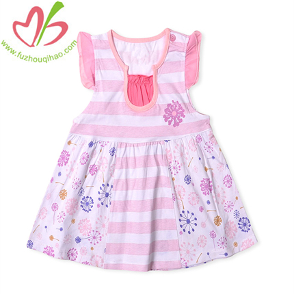 Flutter Sleeves Baby's Jersey Dress