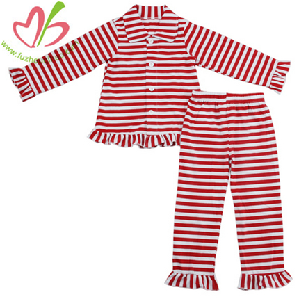 Stripe Girl's Nightgown Pajamas Set