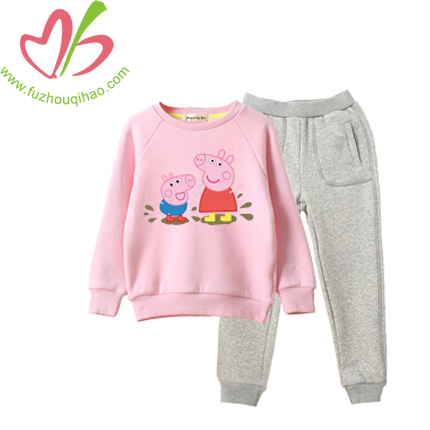 Cute Girl's Sets with Peppa Print