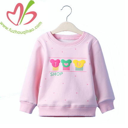 Girl's Cute Printed Hoody