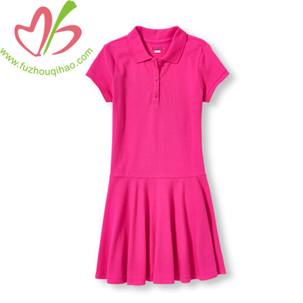 Girl's Solid Puffed Sleeve Dresses