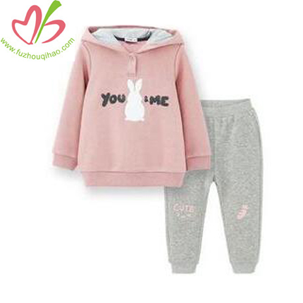 Girl's Cute Hoody Sets with Hood