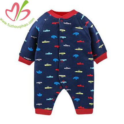 Baby Boy's Printed Long Sleeve Jumpsuit