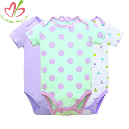 Purple Polka Dot Baby Bodysuit