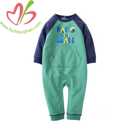 Baby Boy's Long Sleeve Jumpsuit with Pocket