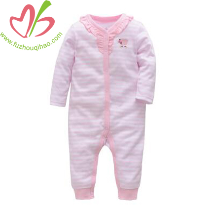 Cute Pink Baby Long Sleeve Jumpsuit
