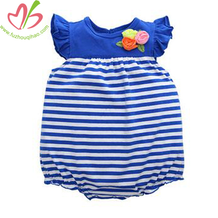 Cute and Comfortable Baby Girl's Flutter Sleeve Bubble