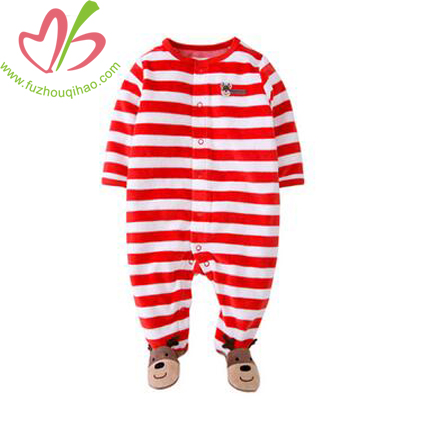 Chrismas Stripe Baby Long Jumpsuit