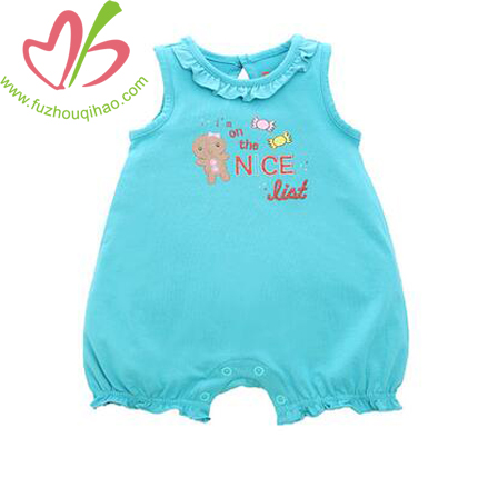Turquiose Baby Sleeveless Bubble