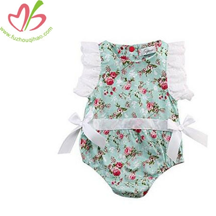 Baby Girl Clothes Lace Floral Cotton Romper Bodysuit Jumpsuit Outfits