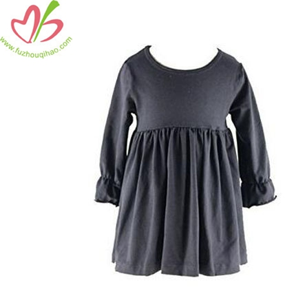 Little Baby Girls' Long Sleeve Cotton Ruffle Top Dress