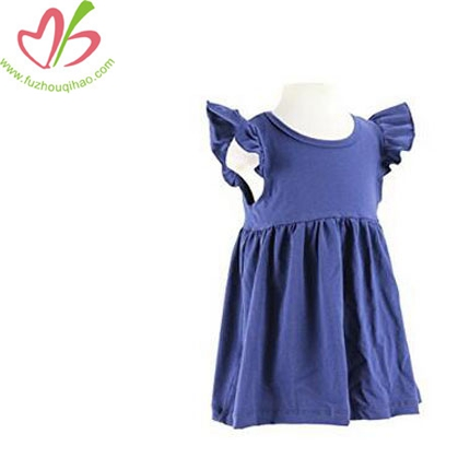 Baby Girls' Cotton Flutter Sleeve Dress