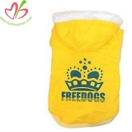 Cute Dog Winter Warm Clothes Pet Yellow Hoodies