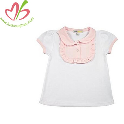 Girl's Cotton Ruffled Bib Top