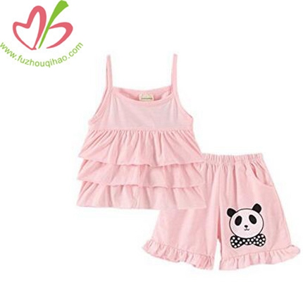 Girls' Panda Sleeveless Short Set