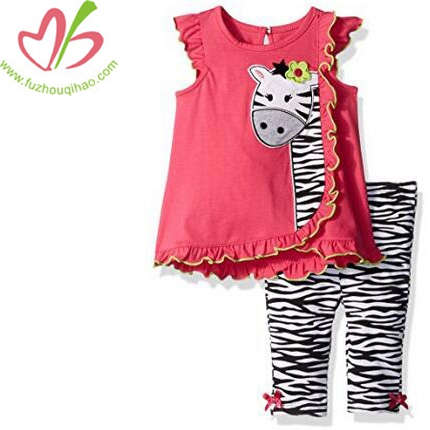 Girls'  2 Pieces Pants Set Cotton Outfit