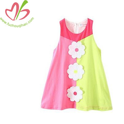Girl's Colorful Flower Dress